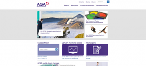 AQA website screenshot