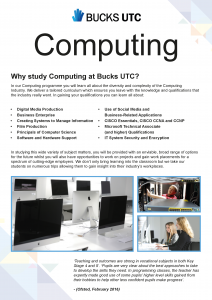 Thumbnail of Computing course flyer